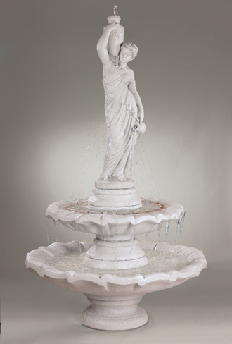 #3440 Two Tier Large Grecian Lady Fountain
