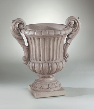 "#6982 28"" DOUBLE HANDLED FLORENTINE URN"