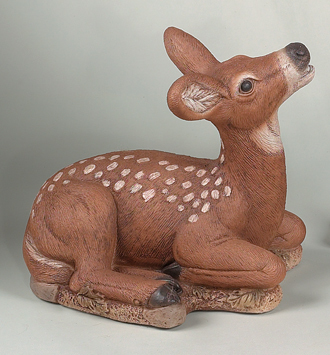 "#2034 13"" LAYDOWN FAWN(HEADUP)"