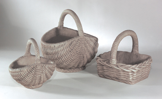 #6547 SQUARE HANDLED BASKET