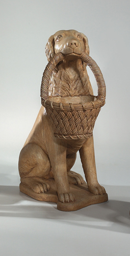 "#2018 32"" RETRIEVER WITH BASKET PLANTER ( Right )"