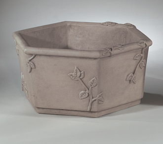"6502 25"" HEX VINE BOX PLANTER"