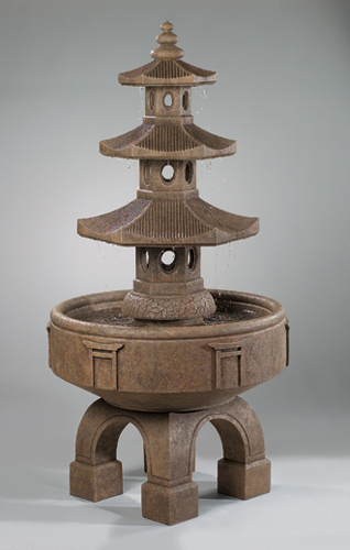 "#3499 80"" Three Tier Pagoda Fountain"