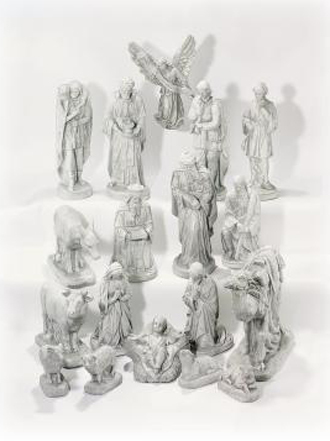 SMALL COMPLETE 18 PIECE NATIVITY SET