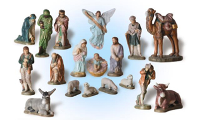 LARGE 18 PIECE NATIVITY SET