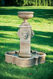 "#3488 58"" Milano Urn Lion Fountain"
