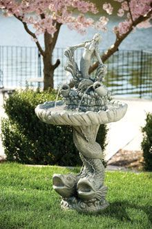 "#3448 48"" MERMAID AND FISH FOUNTAIN"