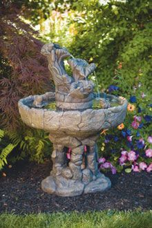 #3375 Three Tier Frog Stone Fountain