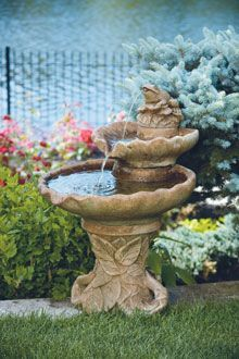 #3645 Two Tier Leaf Fountain