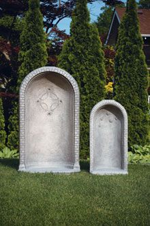 "#1315 ROUND GROTTO FOR 26"" STATUE"