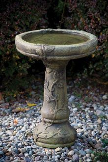 #9165 ONE PIECE ROUND BIRD BATH