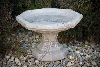 #9010 VINE BIRD BATH