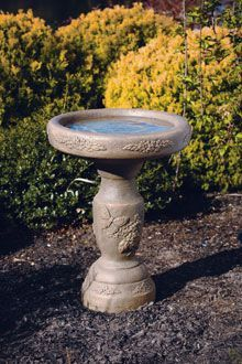 #9020 ONE PIECE LILAC BIRD BATH