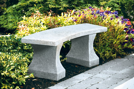 "#4884 48"" CURVED SIERRA BENCH"