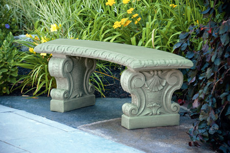 #4251 VERONA CURVED BENCH
