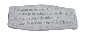 #4849  BENCH - SERENITY PRAYER