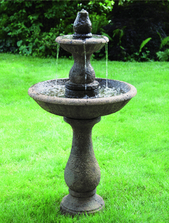 #3727  Two Tier Boca Round Fountain