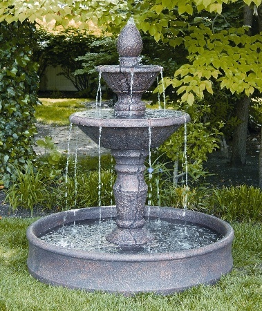 "3847  59"" TWO TIER CORTONA FOUNTAIN 52"" POOL"