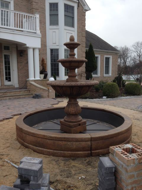 #30 Three Tier Fountain in Pool