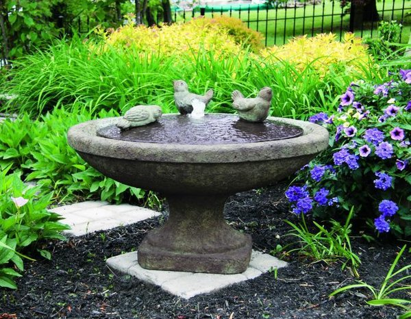 "#3899 16"" Singing Birds Oval Fountain"
