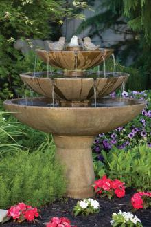 "#3697 48"" Tranquillity Spill Fountain With Birds"