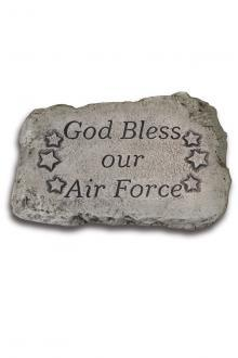 "1849 God Bless our Air Force - 10"" Stone"