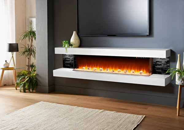 "96"" Vegas Floating Fireplace"