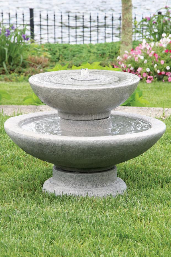 "#3520 16"" Two Tier Tranquility Fountain"