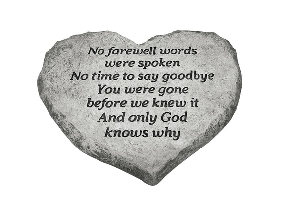 #1795 Heart Stone - No Farewell Word...