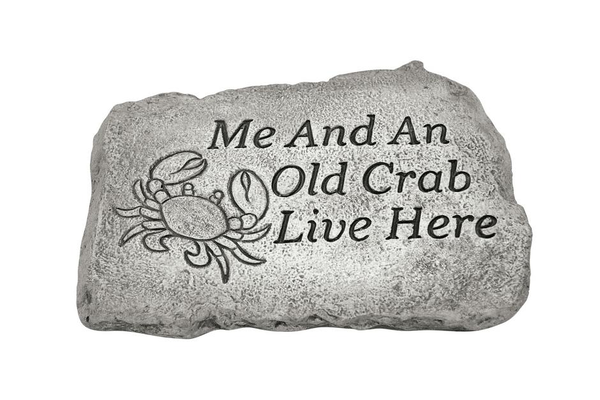 "#1799 10"" Stone - Me And An Old Crab"