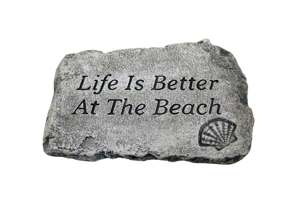 "#1806 Life is Better at the Beach: 10"" Garden Stone"