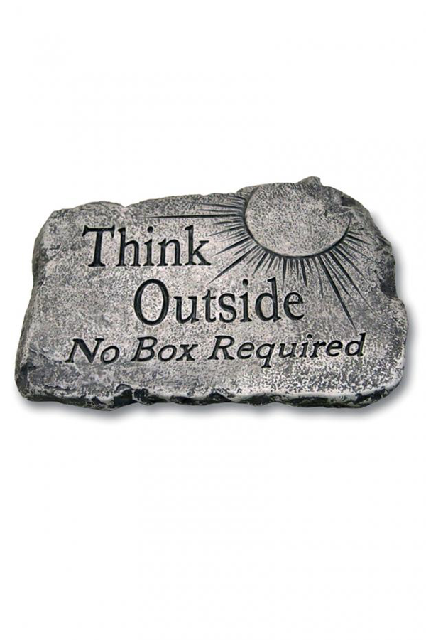 "#1823 Think Outside No Box Required: 10"" Garden Stone"