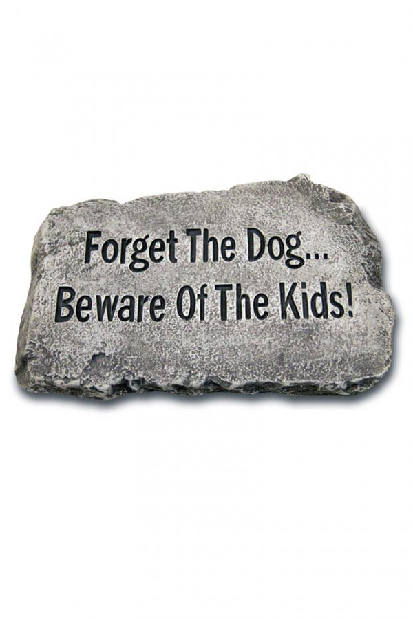 "#1811 Forget the Dog: 10"" Garden Stone"