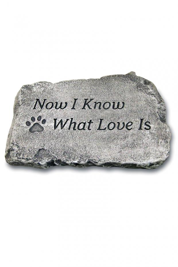 "#1807 Now I know What Love Is: 10"" Garden Stone"