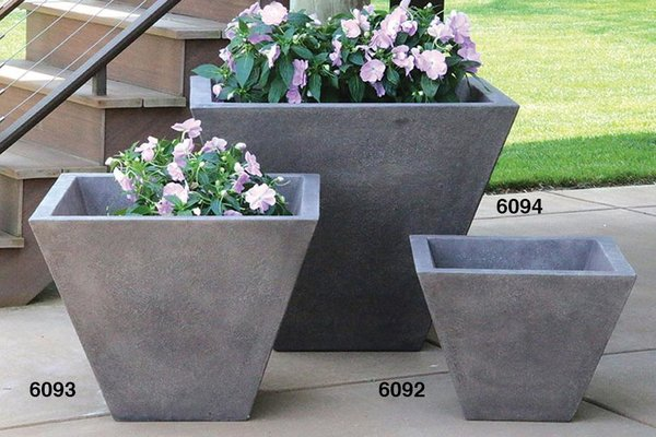 "#6092 15"" Oblique Planter"