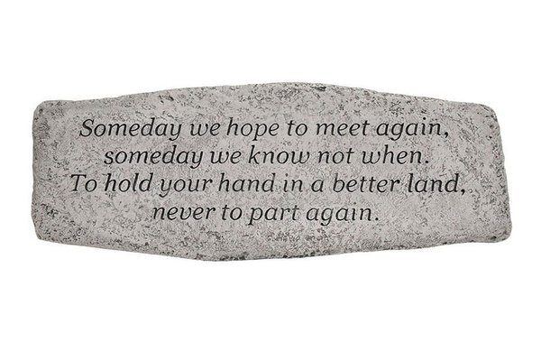 #4713 Bench - Someday We Hope To Meet