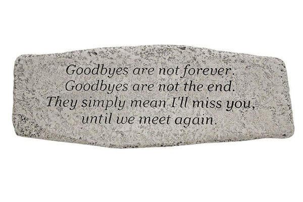 #4885 Bench - Goodbyes Are Not Forever