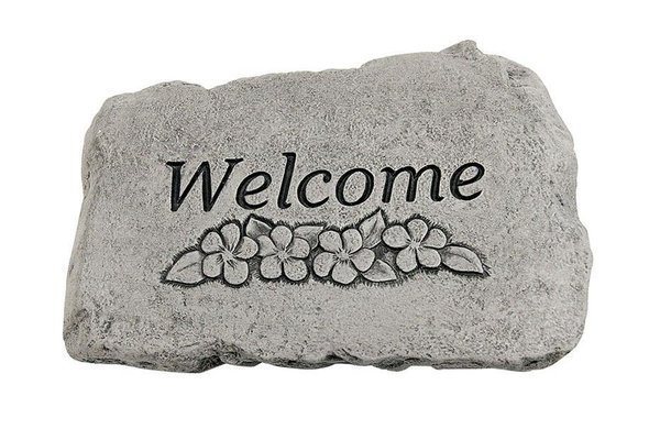 "#1784 10"" Stone - Welcome Flowers"