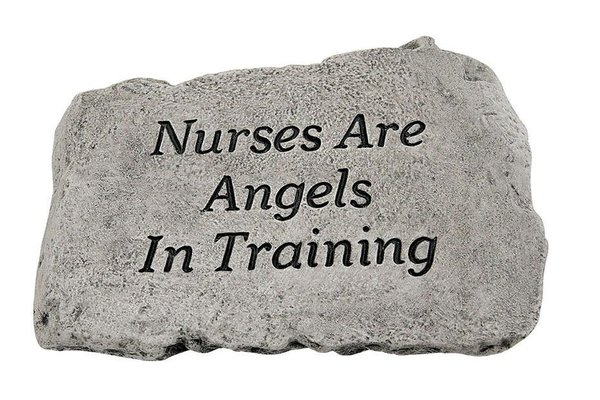 "#1785 10"" Stone - Nurses Are Angels"