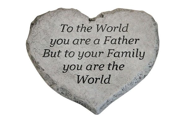 #1773 Heart Stone - To The World Dad