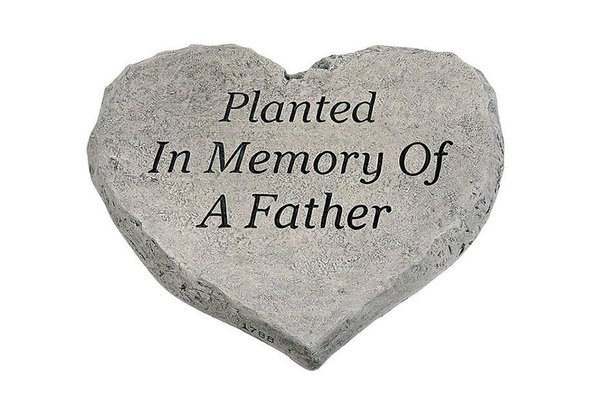 #1788 Heart Stone - Planted In Memory Of A Father