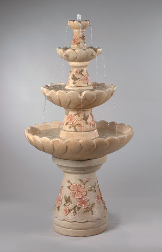 #3880  Four Tier Hummingbird Fountain
