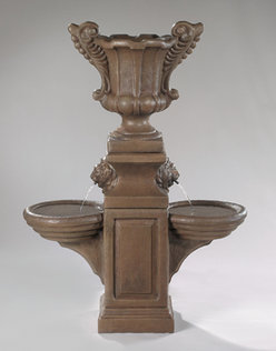 #3311 Double Bowl Fountain With Medium Double Handled URN