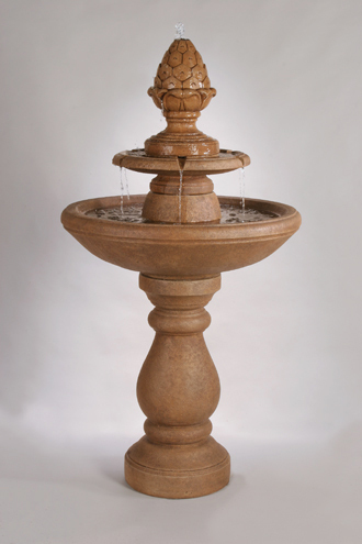 #3557 Two Tier Pinecone Fountian