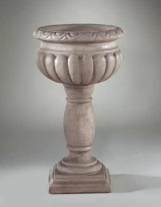 "6925 33"" EGG & DART URN ON PEDESTAL"