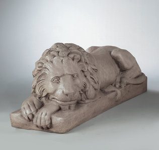 4060 EXTRA LARGE LAYDOWN LION LEFT