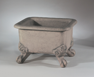 "#6940  15"" BASIN PLANTER WITH FEET"