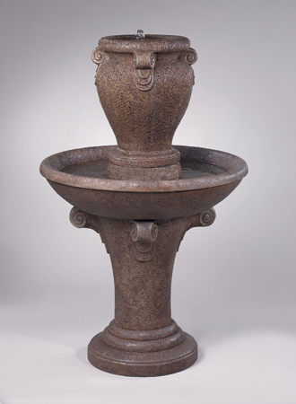 "#3493 58"" ONE TIRE DISTRESSED SCROLL FOUNTAIN"