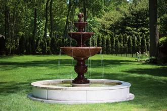 #3633 FOUR TIER SOMONA FOUNTAIN ON 8' POOL