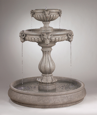 "#3514 62"" CLASSIC RAMS HEAD FOUNTAIN WITH POOL"
